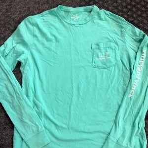 XL 18 kids teal Vineyard Vines L/S T- Shirt